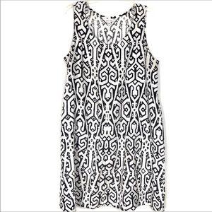🎈J.Jill Love Linen Black & White Sleeveless Dress